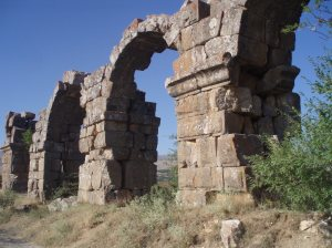 Aqueduct at Antiochia, the end of the St Paul Trail, Turkey