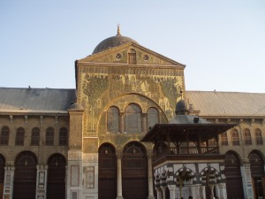The priceless mosaics with scenes of Paradise, Damascus Umayyad Mosque