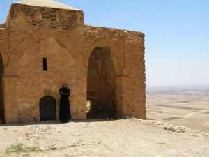 Mor Augen Monastery near Nusaybin, Turkey, now overlooking the new Syrian 'Rojavo' [DD]
