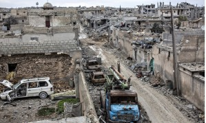 Kobani destruction, Syria