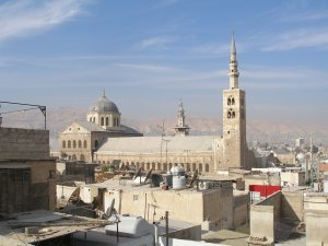 Damascus' Great Umayyad Mosque with its Jesus Minaret