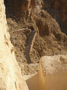 Steps leading up the monastery of Mar Musa (DD)