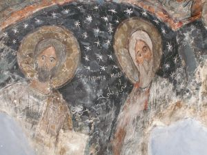 6th century murals at Mar Elian church in the Old City of Homs, possibly the oldest in Syria [2010, DD]