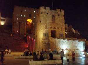 Aleppo citadel at night, July 2010 [DD]