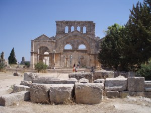 The famous 5th century St Simeon Stylites' Basilica in the heart of a lawless area south of Aleppo [DD]
