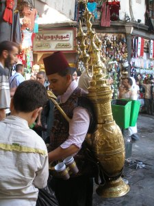 Refreshment for passers-by, Souk Al-Hamadiye, Damascus  [DD]