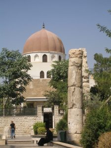 Saladin's Tomb in Old Damascus. Saladin was a Kurd. [DD]