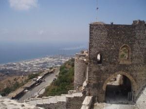 Lowering above Banias, the black basalt Crusader Castle of Marqab [DD]