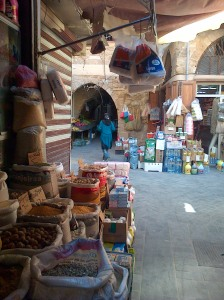 Sidon's old souks are indistinguishable from the souks of Old Damascus [DD, 2014]