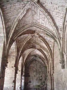 Ribbed vaulting of the refectory Great Hall of the Krak [DD, 2010]