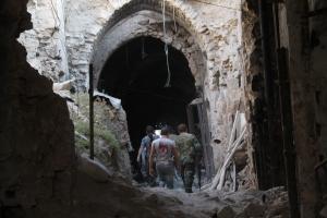 Aleppo's old souk,