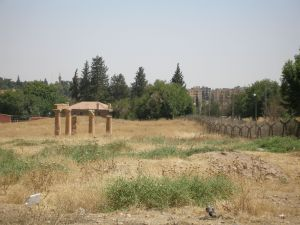 Roman columns of Nisibis in the no-man's land between Nusaybin (Turkey) and Qamishli (Syria) [DD, 2013]