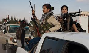 rojava female fighters