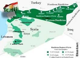 rojava map