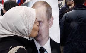 Syrian kissing putin