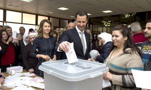 Assad votin in parliamentary elections April 13 2016