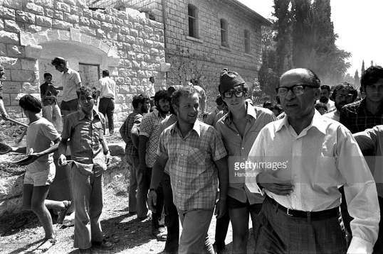 Menachem Begin at Sebastia 1976