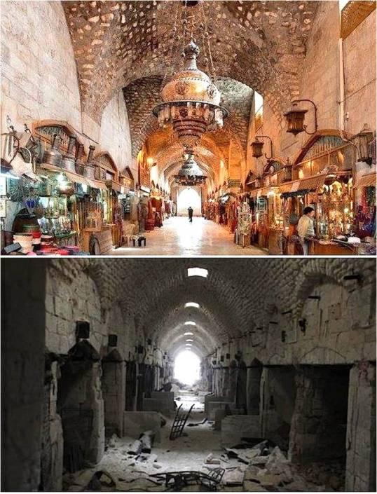 APSA Aleppo Souq destruction Picture1