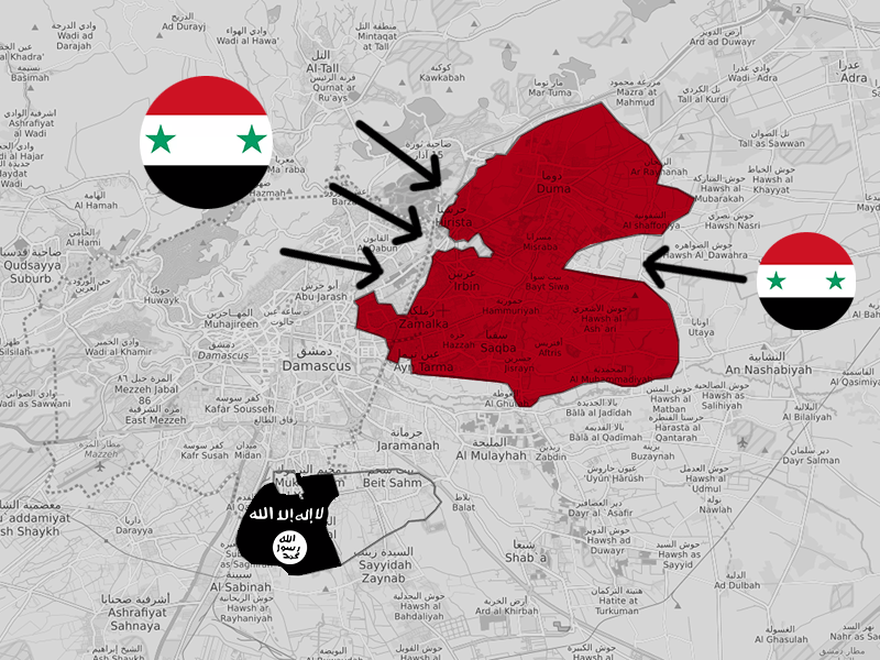 Syria-ISIS Damascus map