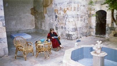 Bait Baroudi pre-restoration courtyard