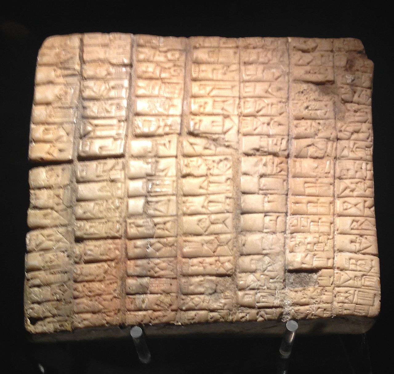 Ebla clay tabelt from the royal archive (Attribution Davide Mauro, 2017)