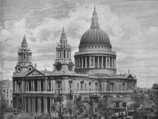 St Paul's, as rebuilt by Christopher Wren in 1710 after the Great Fire of London
