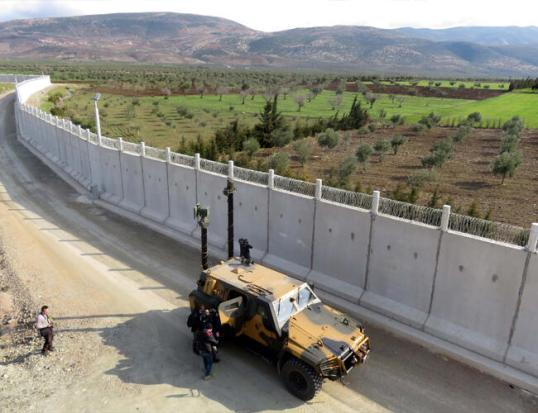Syria Turkey border wall