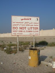 Education about litter is increasing (Copyright Diana Darke)