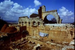 The Church of Bissos, Ruweiha, 6th century [copyright Diana Darke, February 2005]