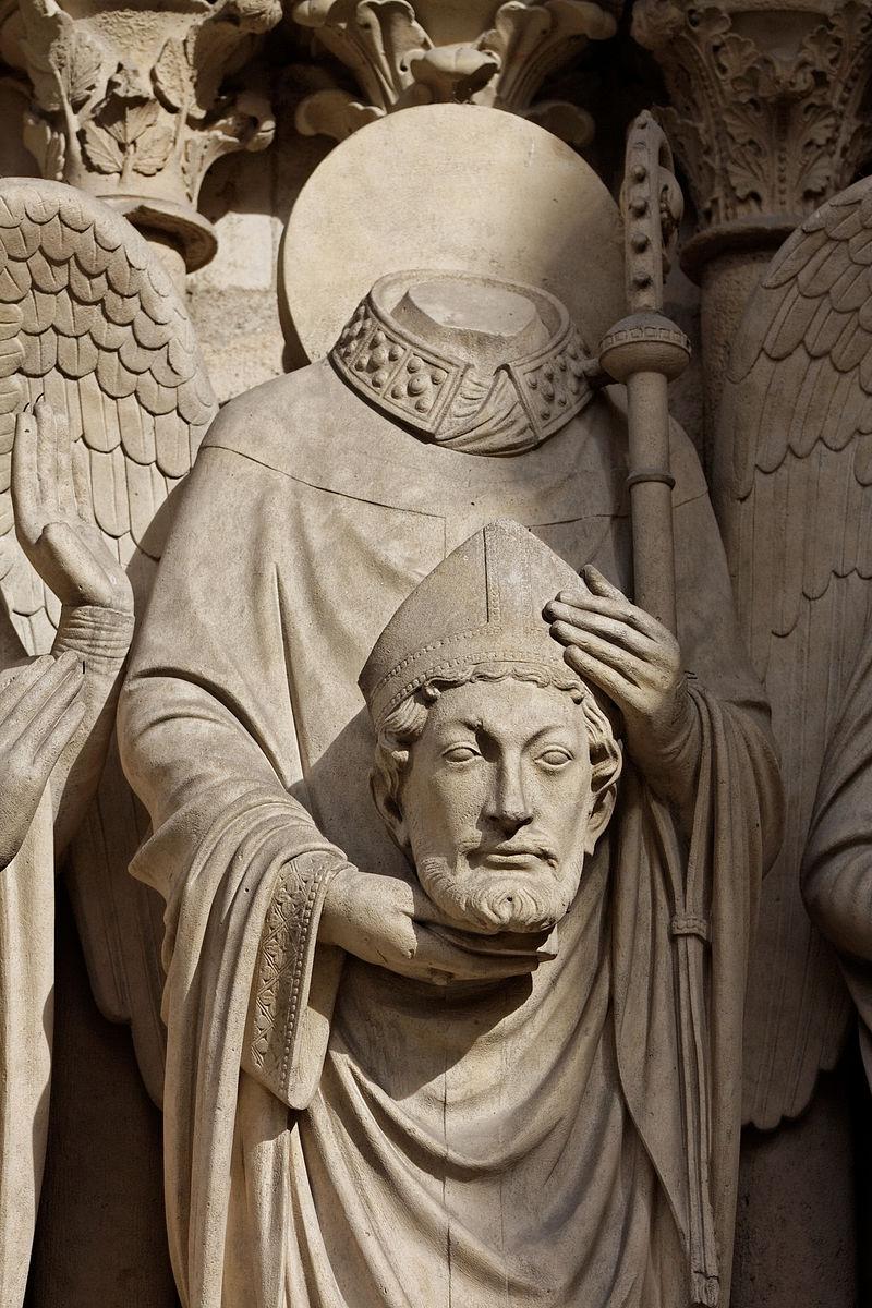 Paris_-_Cathédrale_Notre-Dame_-_Portail_de_la_Vierge_-_PA00086250_-_003 Notre Dame St Denis head