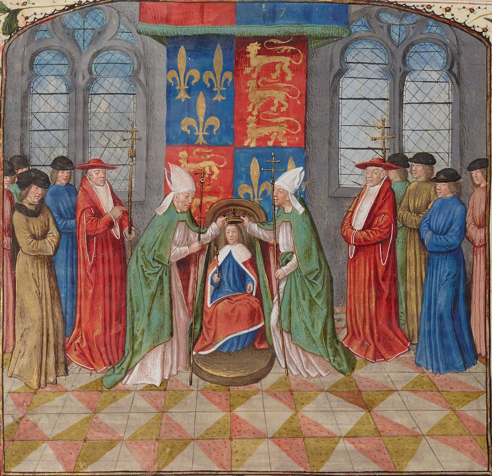 Sacre_Henry6_England-France_02 Henry VI of England Fleur-de-lis